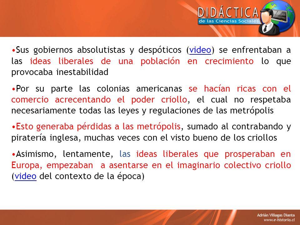 B) Ámbito Económico El mantenimiento de propiedad de muchos grandes territorios agrícolamente disponibles en manos de unos pocos propietarios, pero que no eran explotados La actividad minera por lo menos en el caso de Chile.