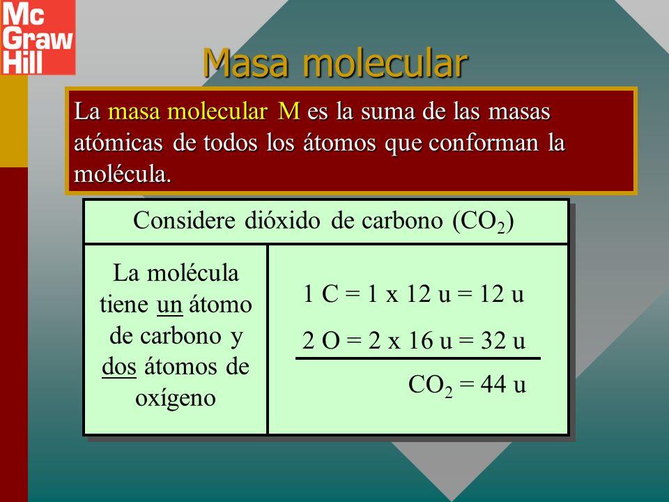 Masas atómicas de algunos elementos: Masa atómica La masa atómica de un elemento es la masa de un átomo del elemento comparada con la masa de un átomo