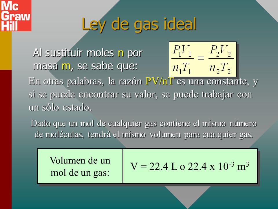 Ejemplo 4: ¿Cuál es la masa de un sólo átomo de boro (M = 11 g/mol)? Se proporcionan tanto un número N = 1 como una masa molecular M = 11 g/mol. Recue