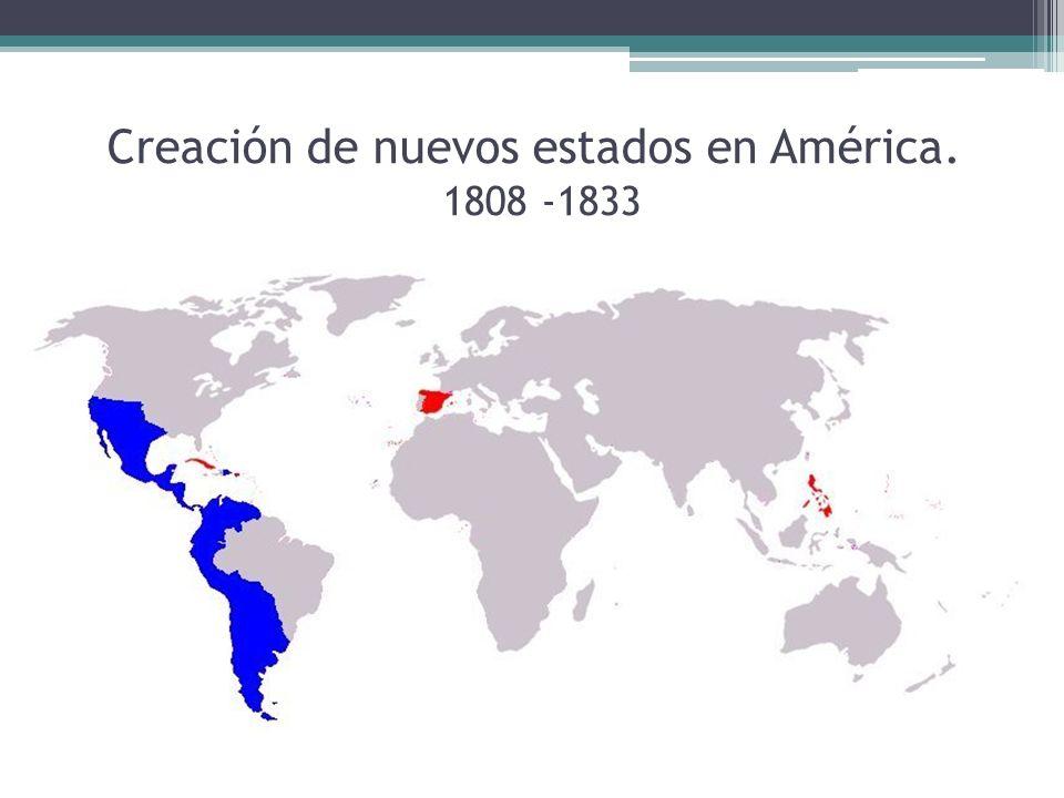 Mapa independencias latinoamericanas
