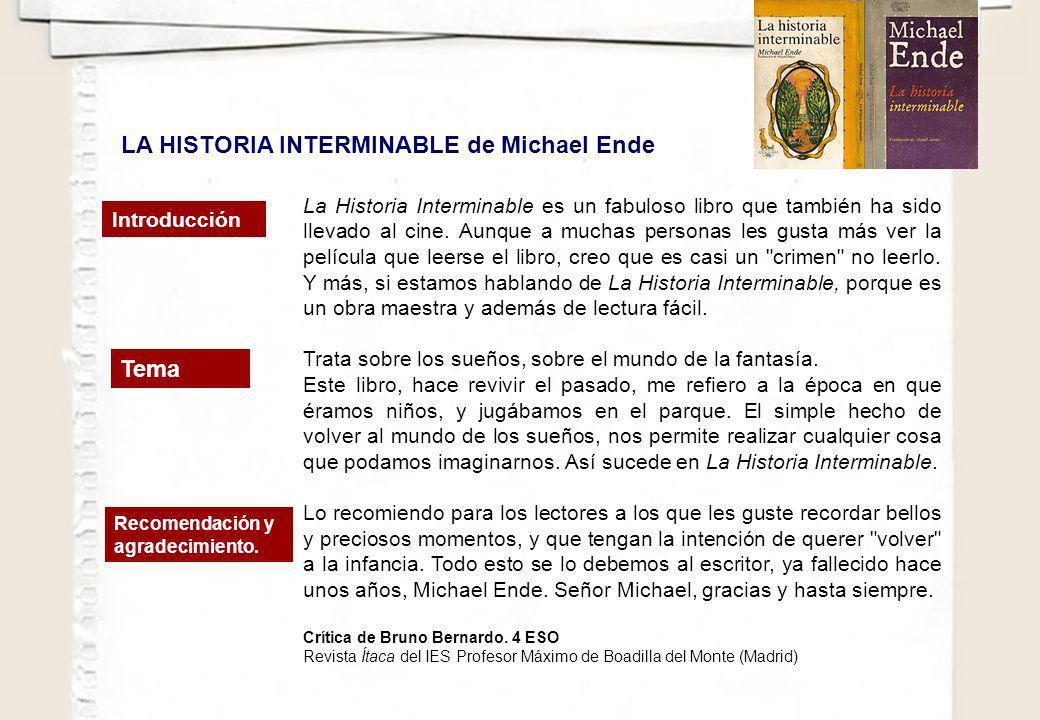 La Historia Interminable es un fabuloso libro que también ha sido llevado al cine. Aunque a muchas personas les gusta más ver la película que leerse e