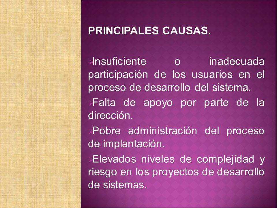 PRINCIPALES CAUSAS.