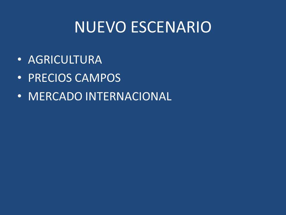 NUEVO ESCENARIO AGRICULTURA PRECIOS CAMPOS MERCADO INTERNACIONAL