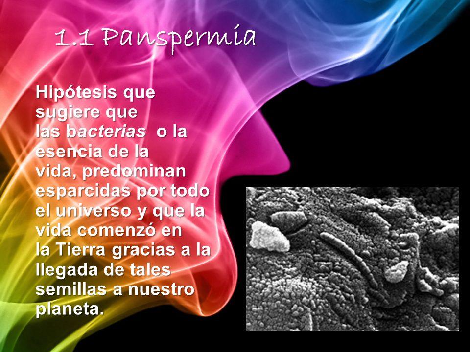 Hipótesis que sugiere que las bacterias o la esencia de la vida, predominan esparcidas por todo el universo y que la vida comenzó en la Tierra gracias a la llegada de tales semillas a nuestro planeta.