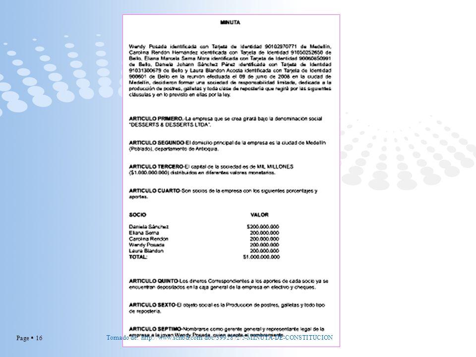 Page 16 Tomado de: http://www.scribd.com/doc/3992872/5-MINUTA-DE-CONSTITUCION