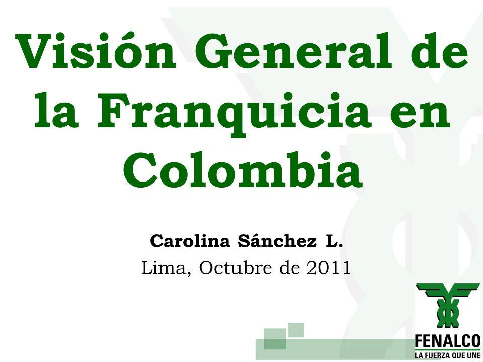 Visión General de la Franquicia en Colombia Carolina Sánchez L. Lima, Octubre de 2011