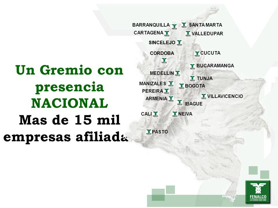 FENALCO trabaja por el bien de la Nación y el desarrollo del comercio Para esto busca la justicia social, lucha por el afianzamiento de las instituciones democráticas y promueve la solidaridad gremial, la eficiencia y la modernización de los empresarios colombianos.