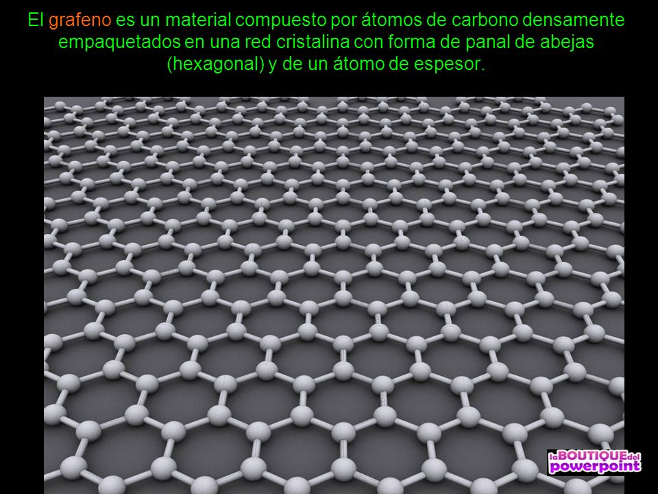 El grafeno Material del futuro Avanzar manualmente