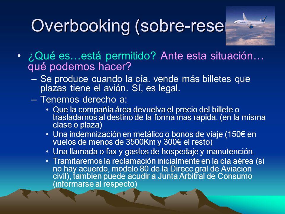 Overbooking (sobre-reserva) ¿Qué es…está permitido.