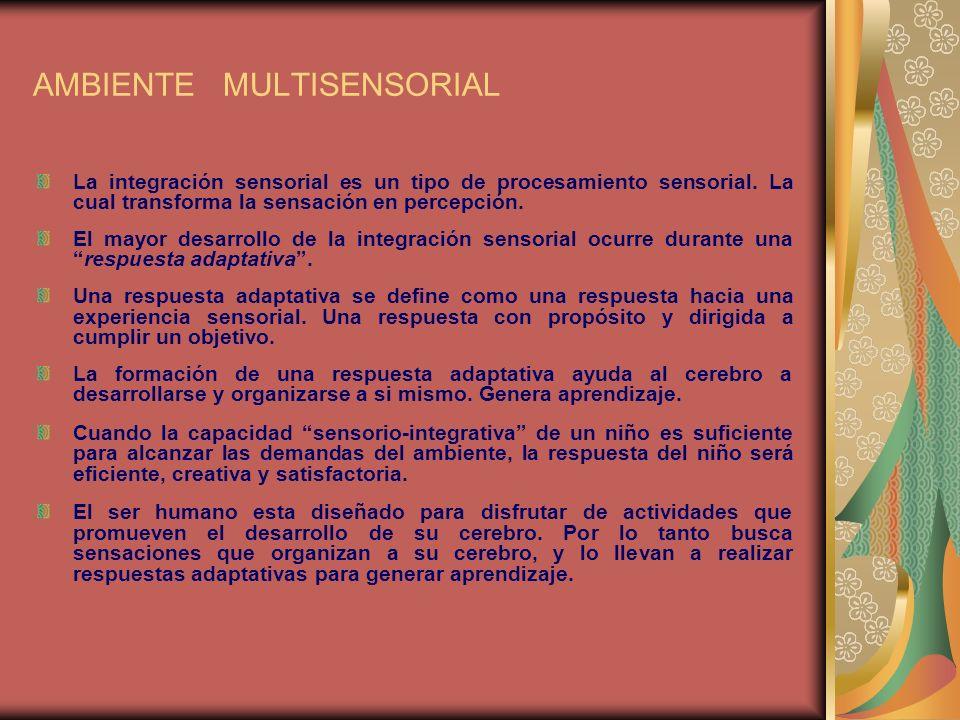 AMBIENTE MULTISENSORIAL Mejora en las habilidades sociales y de comunicación.