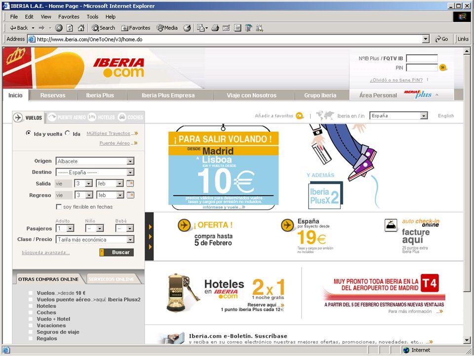 Objetivo Notas Páginas WEB para vender Características: e-commerce Motor de búsqueda Transacciones on line Servicio al cliente Servicios On line venta