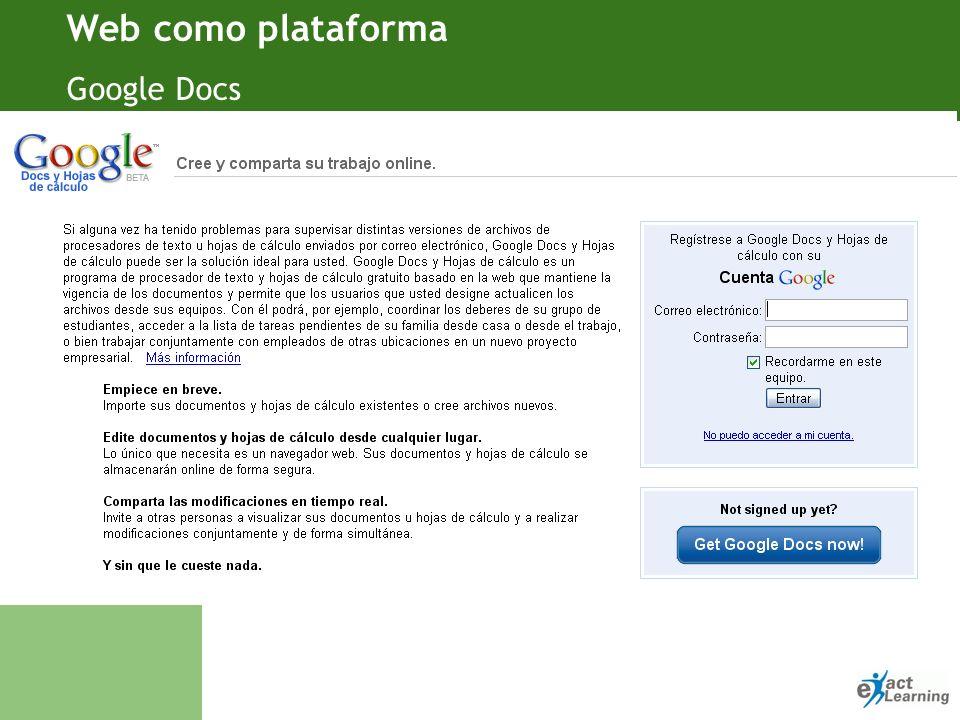 Objetivo Notas · Web como plataforma Google Ads: