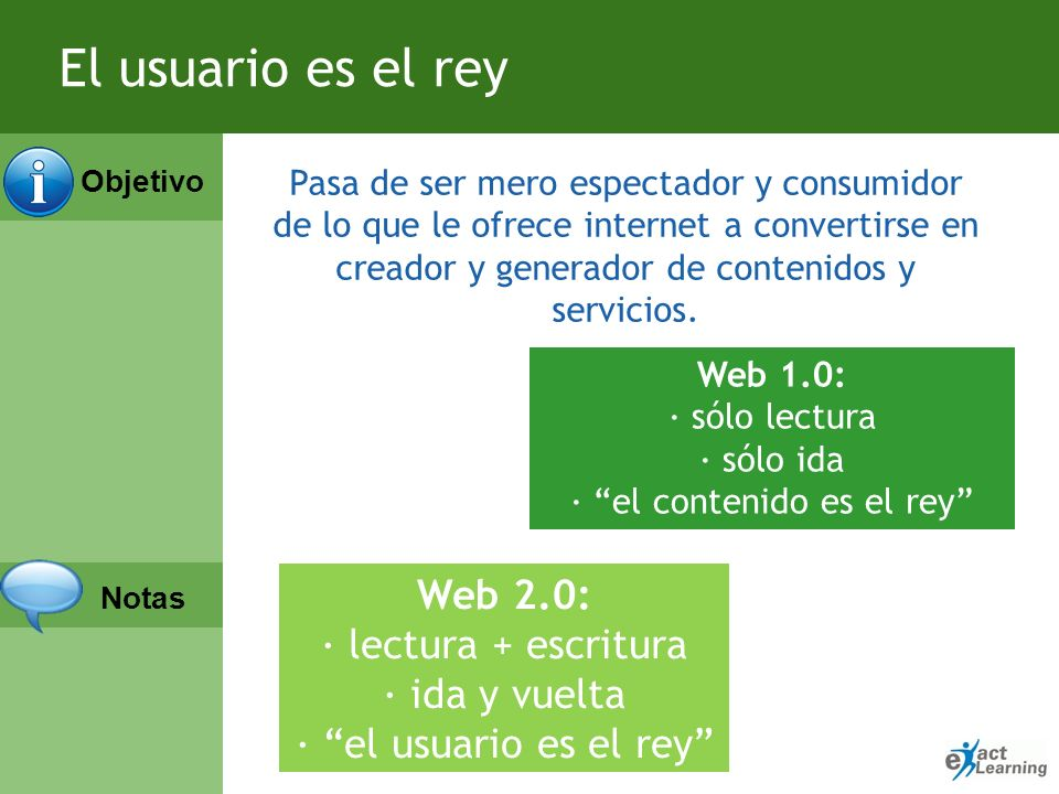 Objetivo Notas Web como plataforma Google Docs