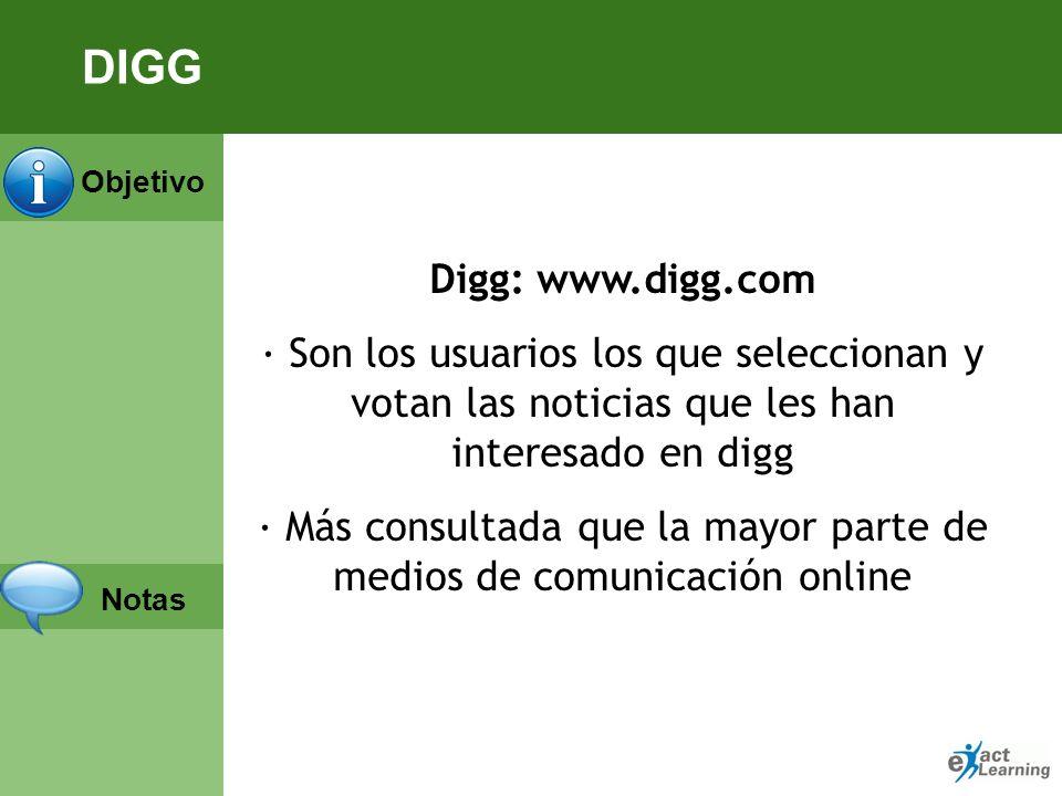 Objetivo Notas Digg