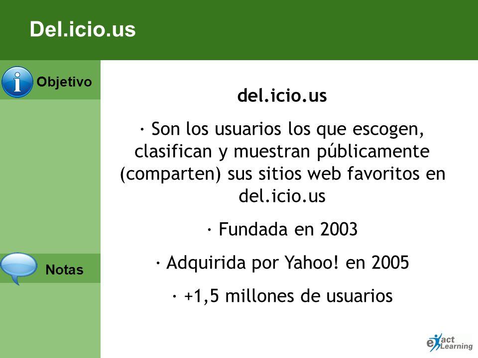 Objetivo Notas Del.icio.us