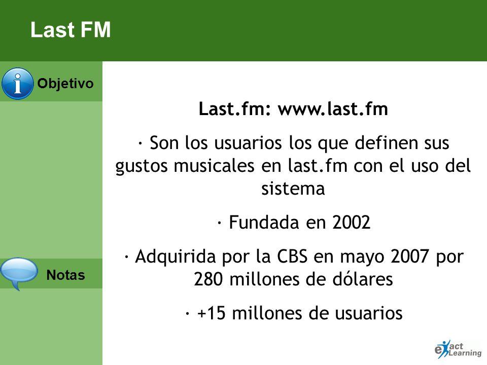 Objetivo Notas Last FM