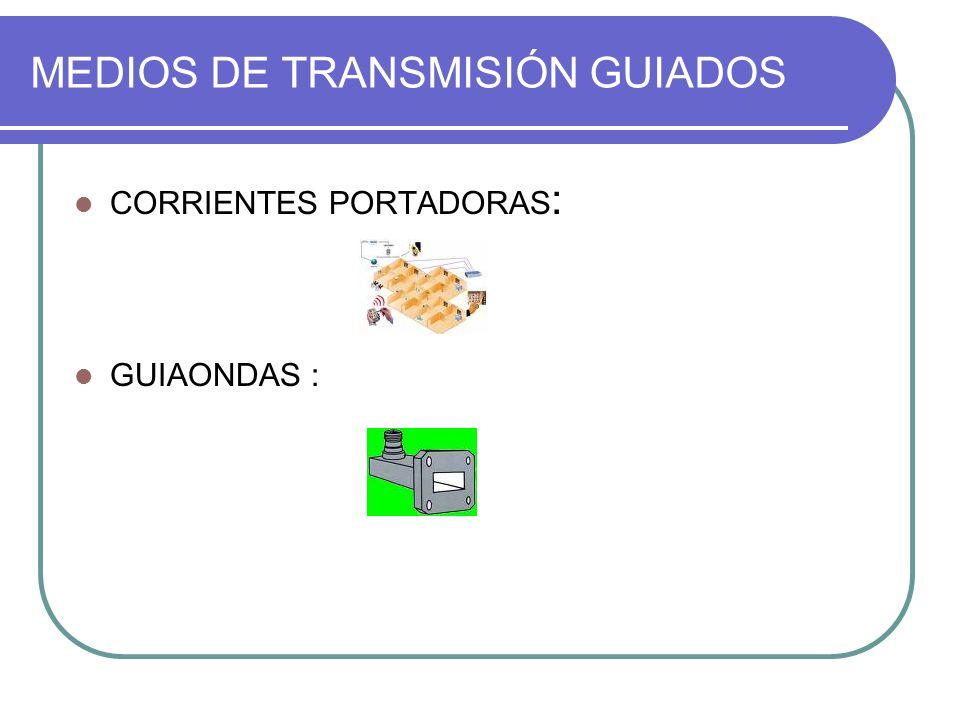 MEDIOS DE TRANSMISIÓN GUIADOS CORRIENTES PORTADORAS : GUIAONDAS :