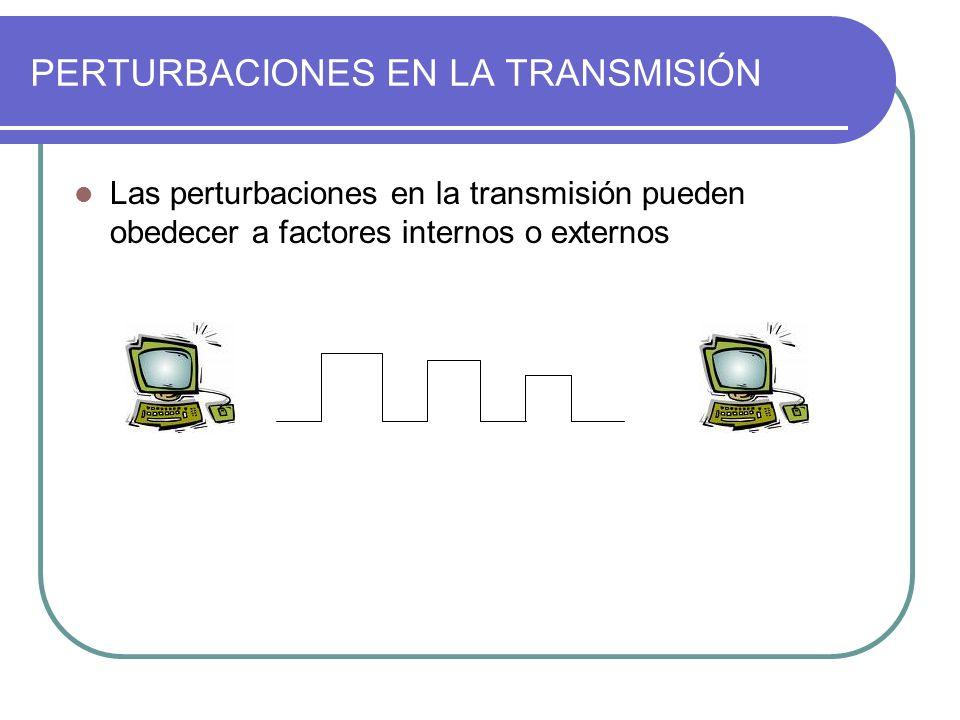 PERTURBACIONES EN LA TRANSMISIÓN Las perturbaciones en la transmisión pueden obedecer a factores internos o externos