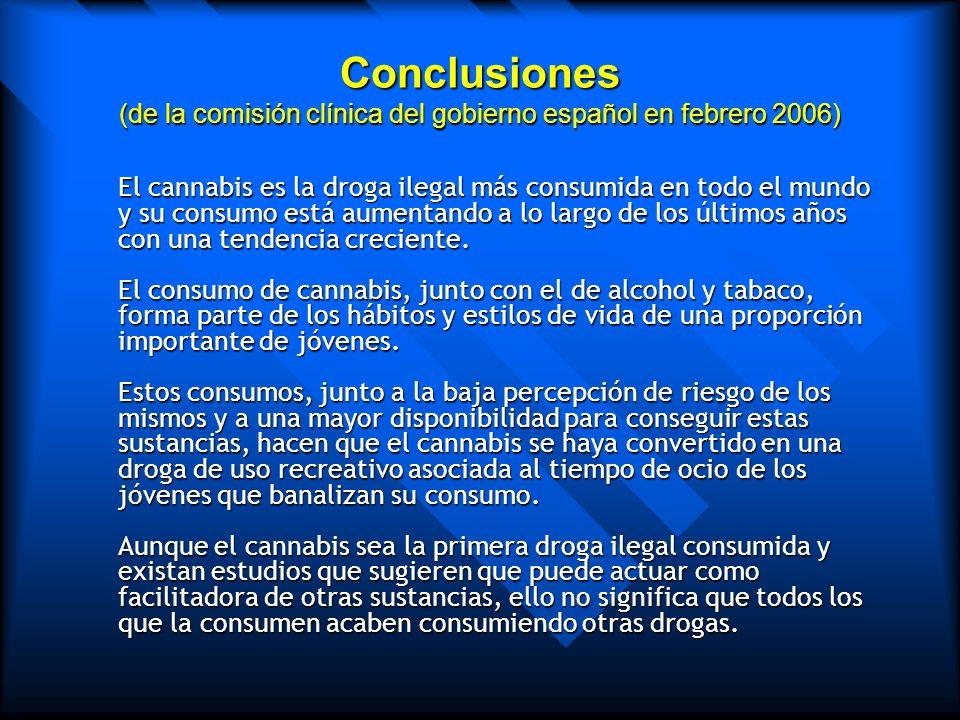 Las manifestaciones iniciales del trastorno por abuso de cannabis consisten en abandono del grupo de amigos no consumidores, desinterés por actividade