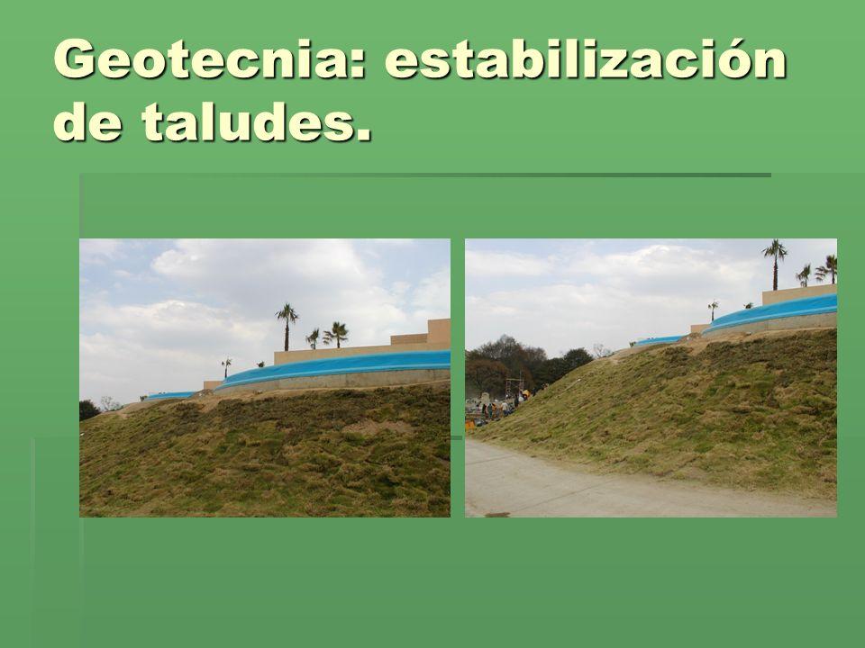 Geotecnia: estabilización de taludes.