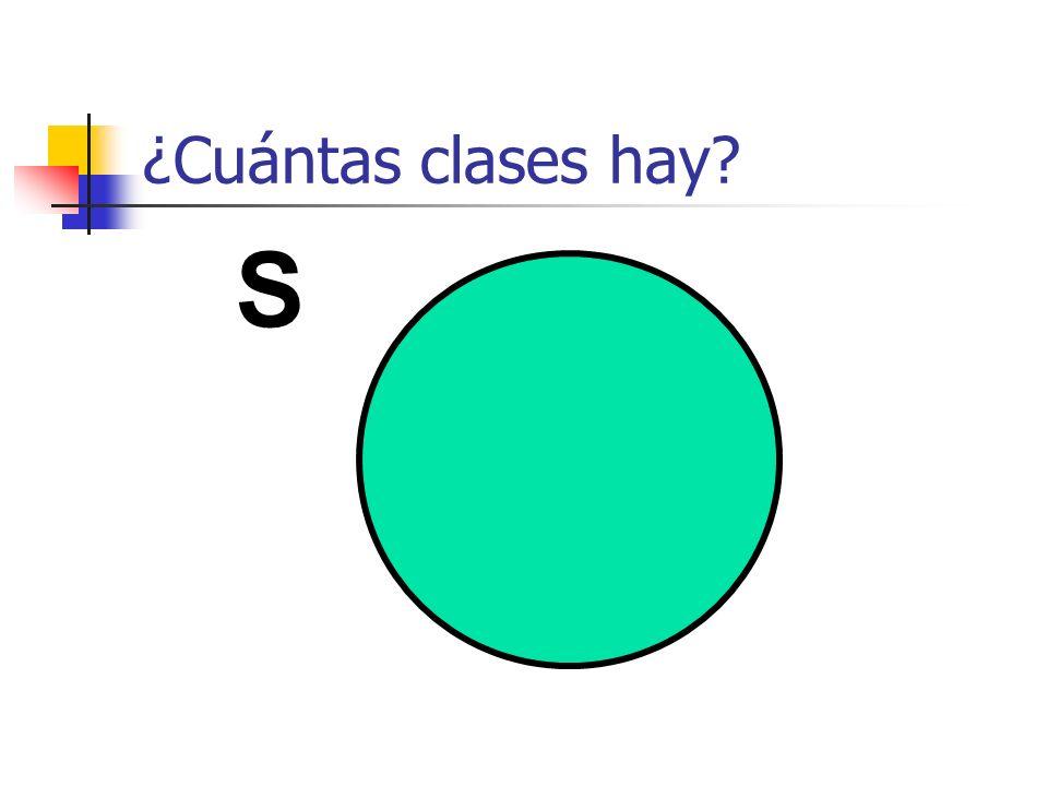 ¿Cuántas clases hay? S