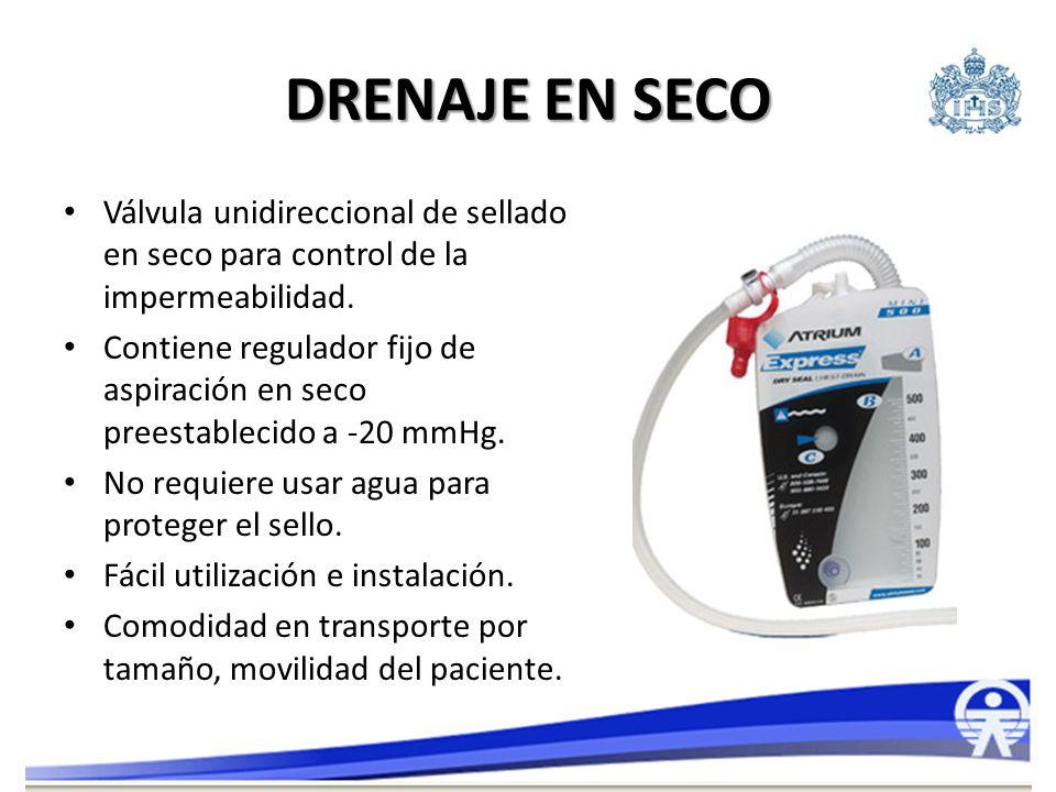 DRENAJE EN SECO Válvula unidireccional de sellado en seco para control de la impermeabilidad. Contiene regulador fijo de aspiración en seco preestable