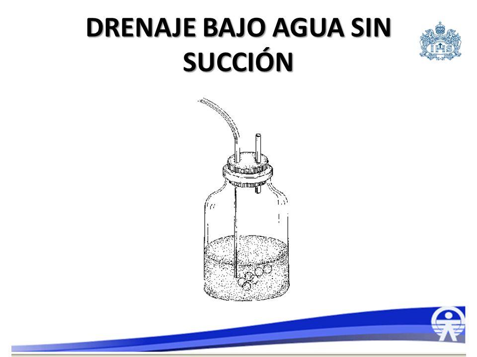Dos frascos: – Primer frasco (recolector) entre el tubo de tórax y el sello de agua (segundo frasco): Evacuación del líquido sin ingresar al segundo frasco.