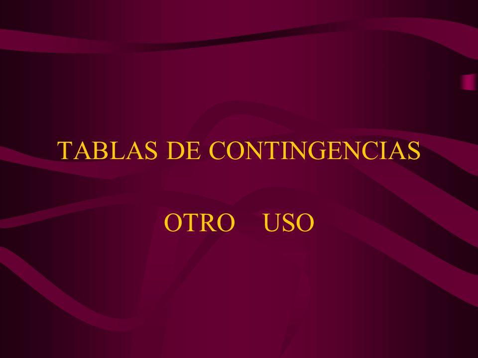 TABLAS DE CONTINGENCIAS OTRO USO