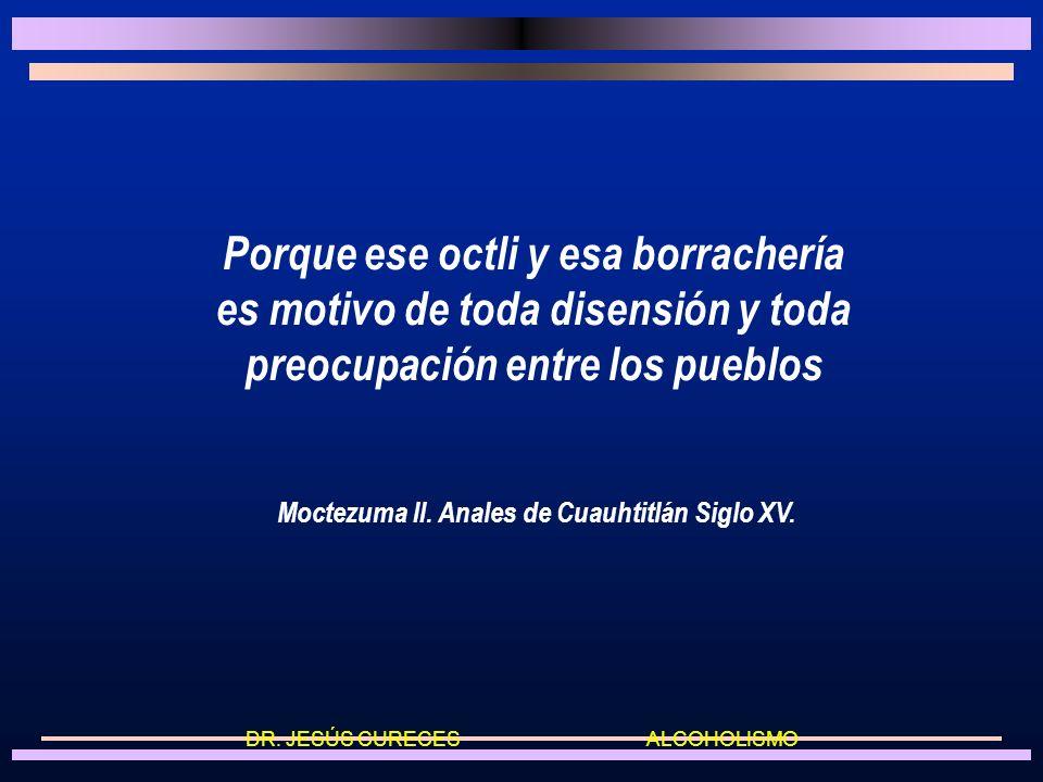 Historia I Durante el período prehispánico, en México el consumo de bebidas alcohólicas y en especial la ebriedad se castigaban severamente. DR. JESÚS