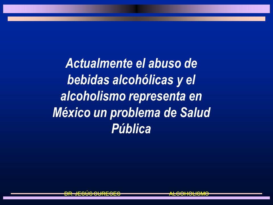 Actualmente el abuso de bebidas alcohólicas y el alcoholismo representa en México un problema de Salud Pública DR.