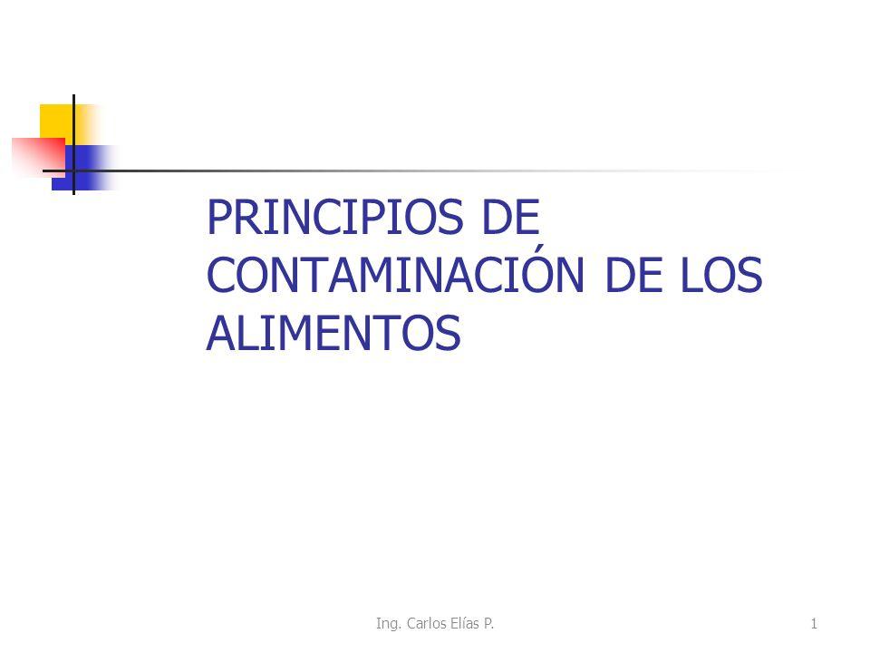 PRINCIPIOS DE CONTAMINACIÓN DE LOS ALIMENTOS Ing. Carlos Elías P.1