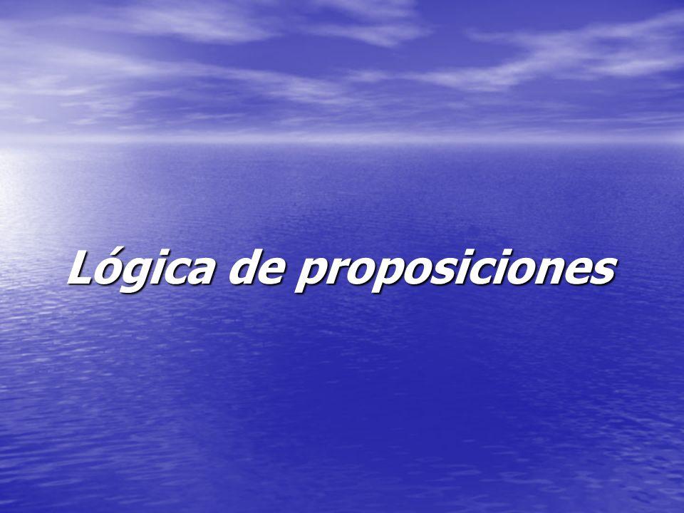 Proposición: Secuencia finita de signos que en un contexto determinado, puede ser calificado de verdadero o falso Obs.