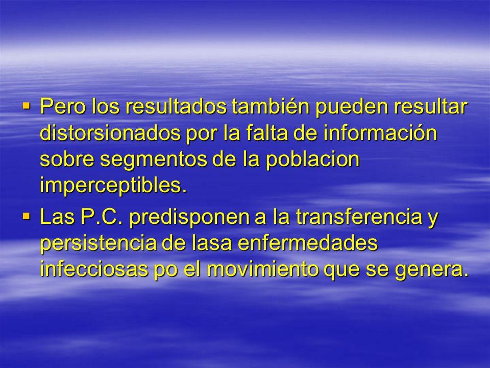 Pero los resultados también pueden resultar distorsionados por la falta de información sobre segmentos de la poblacion imperceptibles. Pero los result