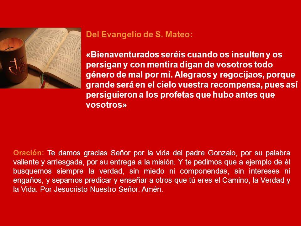 JUEVES 10: EL PADRE ELADIO LÓPEZ RAMOS Hoy recordamos al Padre Eladio López, procedente de una familia donde dos hermanas y un hermano suyos fueron religiosos de la Congregación.