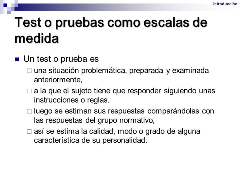1.Fiabilidad y validez de las pruebas 2.