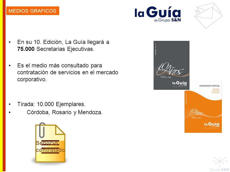 En su 10. Edición, La Guía llegará a 75.000 Secretarias Ejecutivas. Es el medio más consultado para contratación de servicios en el mercado corporativ