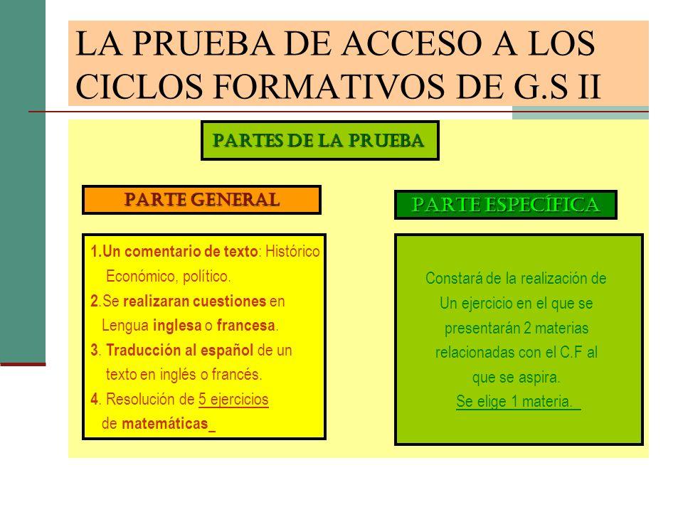 FAMILIAS PROFESIONALES I : FAMILIASMODALIDADES DE BACH 1.A.AGRARIASCCN/Sy T 2.A.FISICAS Y DEPORTIVASH/CS yCCN/S 3.A.