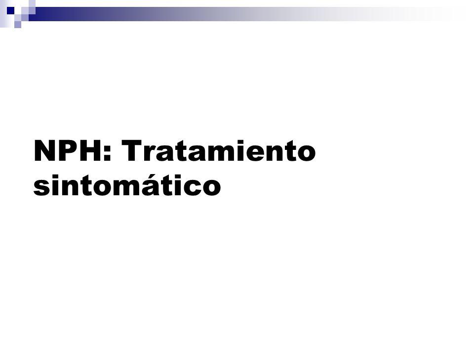 NPH: Tratamiento sintomático