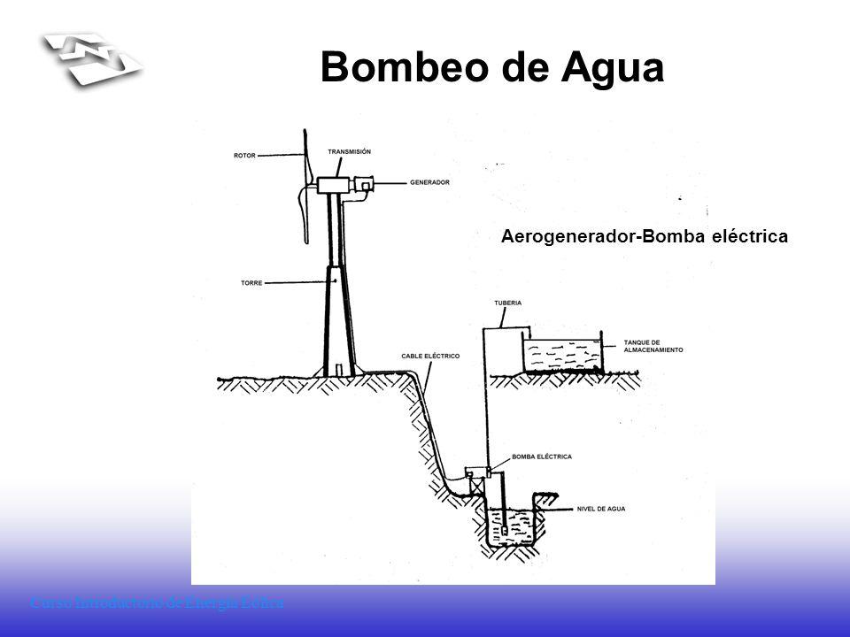 Curso Introductorio de Energía Eólica Bombeo de Agua Aerogenerador-Bomba eléctrica
