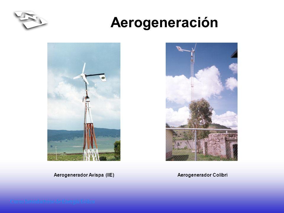 Curso Introductorio de Energía Eólica Aerogeneración Aerogenerador Avispa (IIE)Aerogenerador Colibrí
