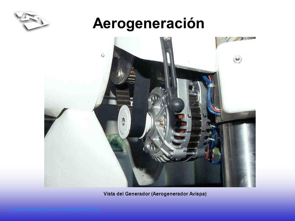 Curso Introductorio de Energía Eólica Aerogeneración Vista del Generador (Aerogenerador Avispa)