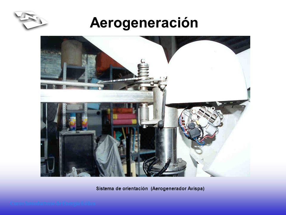 Curso Introductorio de Energía Eólica Aerogeneración Sistema de orientación (Aerogenerador Avispa)