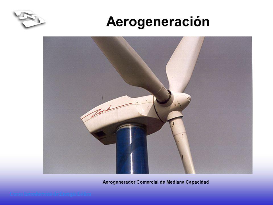 Curso Introductorio de Energía Eólica Aerogeneración Aerogenerador Comercial de Mediana Capacidad