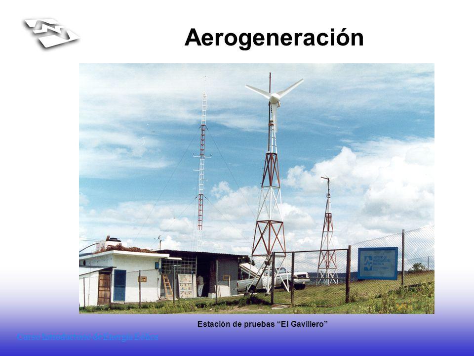 Curso Introductorio de Energía Eólica Aerogeneración Estación de pruebas El Gavillero