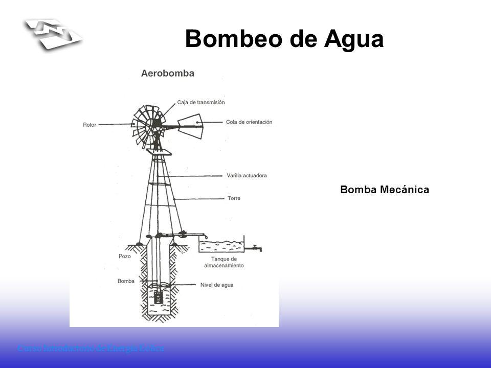 Curso Introductorio de Energía Eólica Bombeo de Agua Bomba Mecánica