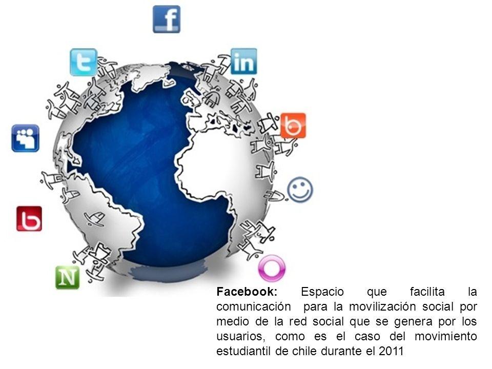 Facebook: Espacio que facilita la comunicación para la movilización social por medio de la red social que se genera por los usuarios, como es el caso