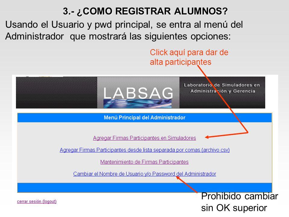 7.- COMO CORREGIR DECISIONES DE LOS ALUMNOS Seleccione la opción Decisiones de Firmas Participantes.