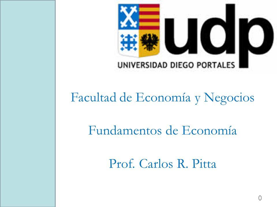 0 Facultad de Economía y Negocios Fundamentos de Economía Prof. Carlos R. Pitta
