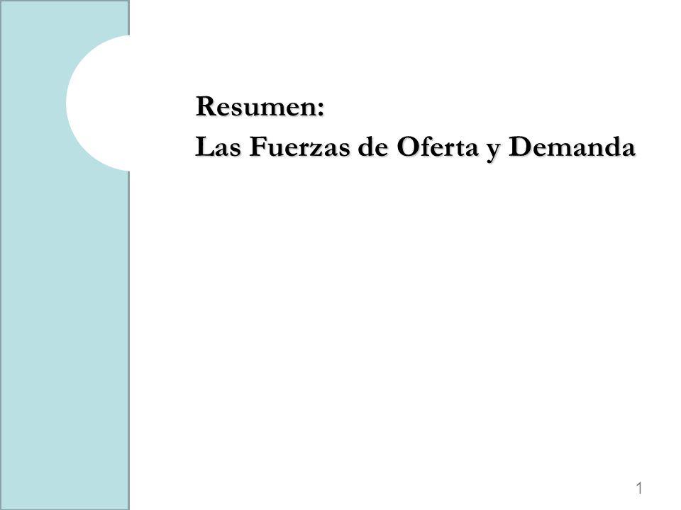 1 Resumen: Las Fuerzas de Oferta y Demanda