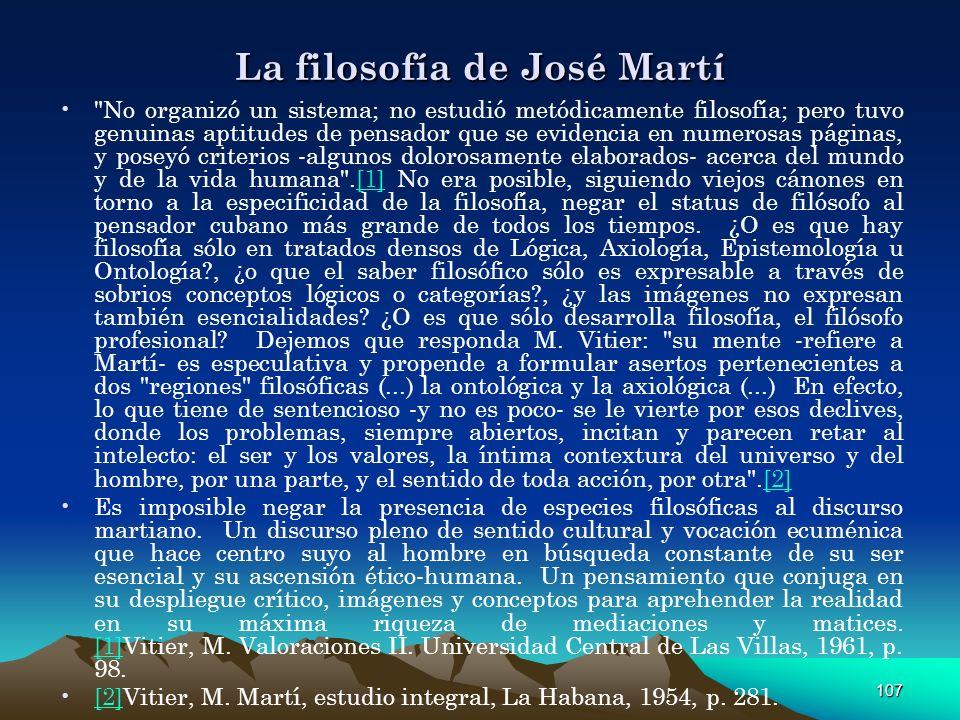 107 La filosofía de José Martí
